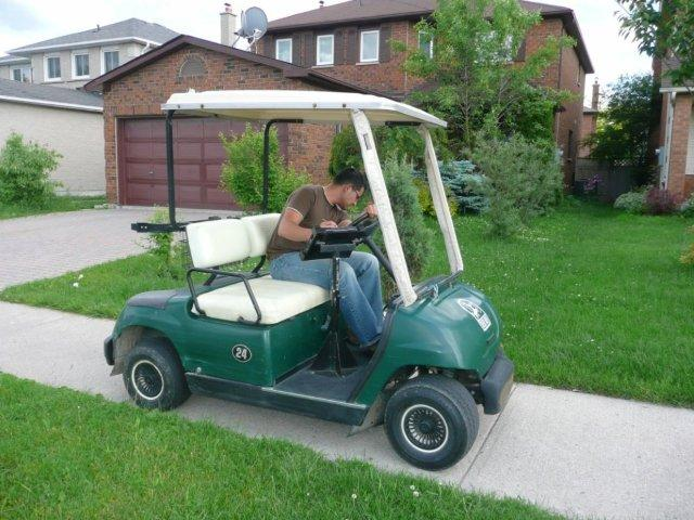 Golf cart used for Inventory and Assessment